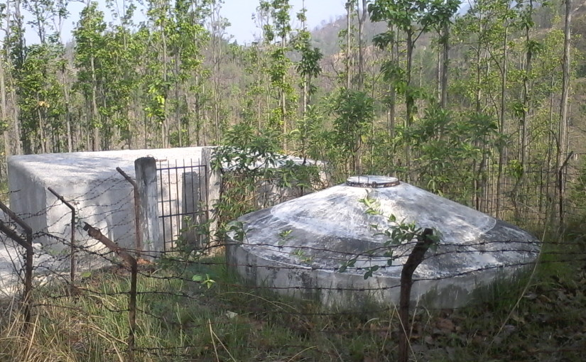old and new water tank